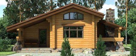 Проект дома из профилированного бруса площадью 113,5 кв.м. Производим профилированный брус строим дома.
