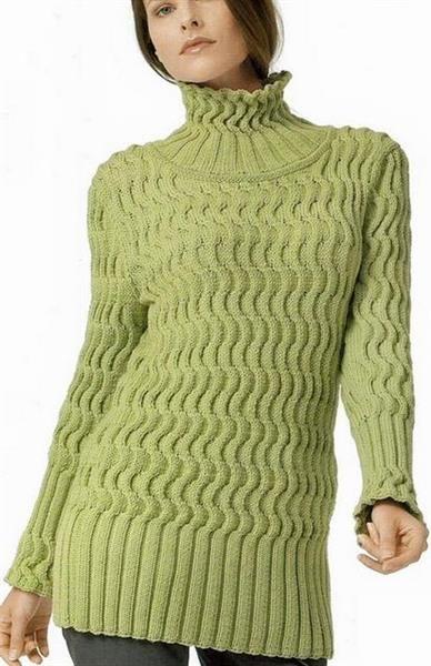 Длинный свитер вязать спицами