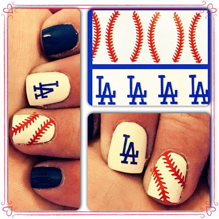 LA Dodgers nail decals by 3rdDegreeLaser on Etsy