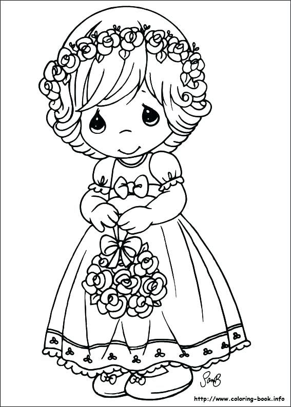coloring Flower Girl Coloring Books | flower girl coloring books ...