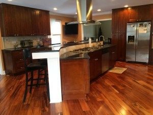 Home Tour- Our Kitchen | Brazilian hardwood, Cherry cabinets