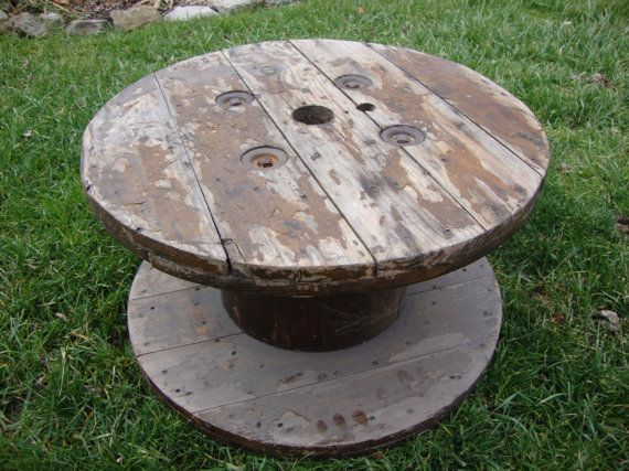 Top 7 ideas about creative uses for wooden wire spools on for Large wooden spools used for tables