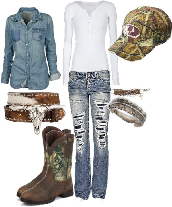"""Relaxed"" by camo-ammo-queen on Polyvore"