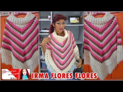 Poncho em Crochê Infantil Folia com Pap - Katia Ribeiro Crochê Moda e Decoração Handmade