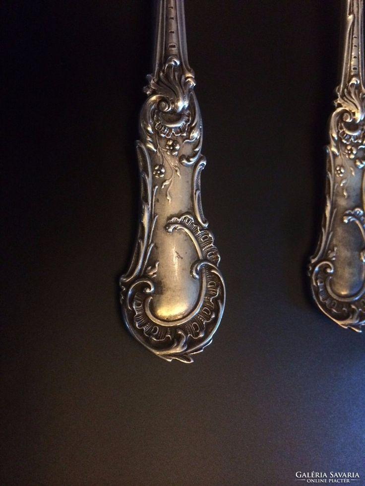 Bécsi barokk ezüst kanál párban