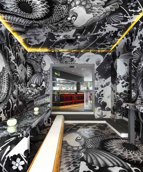 vincent coste inks japanese restaurant in france with yakuza tattoo motifs