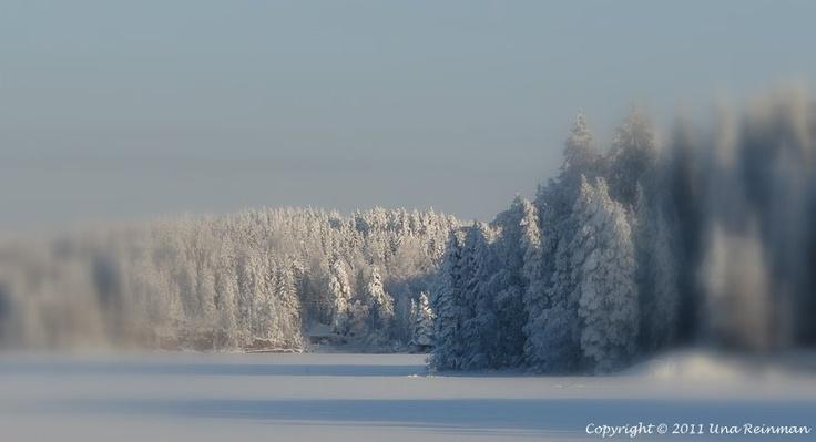 Winter in Nastola, Finland