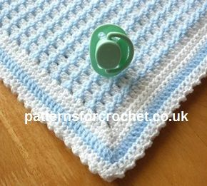 Free crochet pattern crib blanket usa