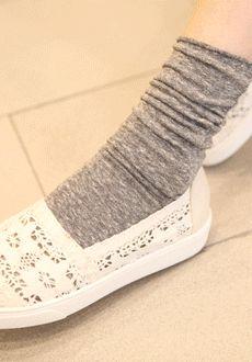 Heathered Basic Socks  SFSELFAA0014029