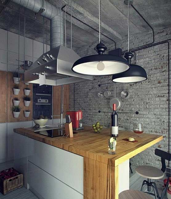 Style industrial in the interior.