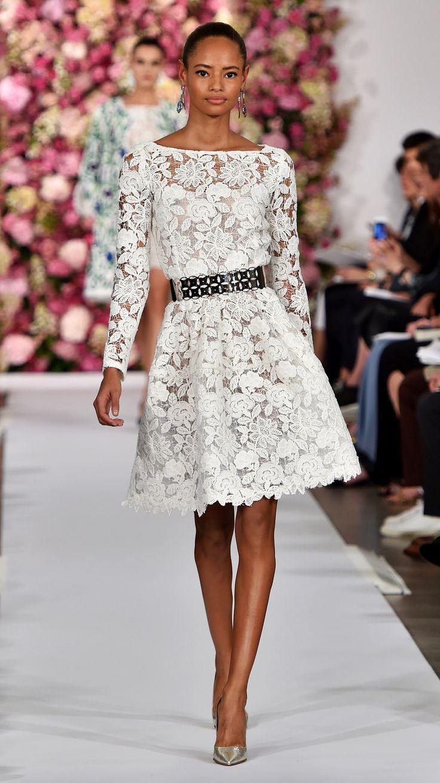 Prettiest dresses from NYFW: Oscar De La Renta Spring/Summer 2015 via @stylelist | http://aol.it/1BKzrAH