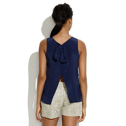 The Silk Bow-Back Tank by Madewell