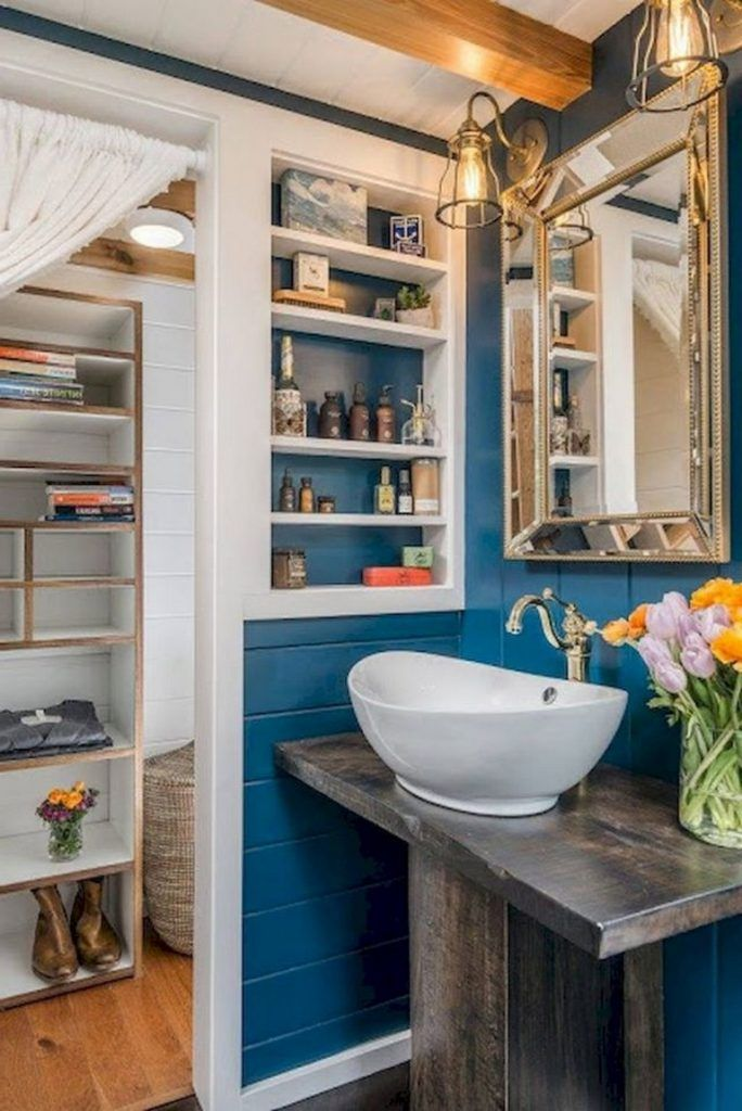 85 Admirable Tiny House Bathroom Shower Design Ideas Page 81 Of 84 In 2021 Tiny House Bathroom Bathroom Shower Design House Bathroom