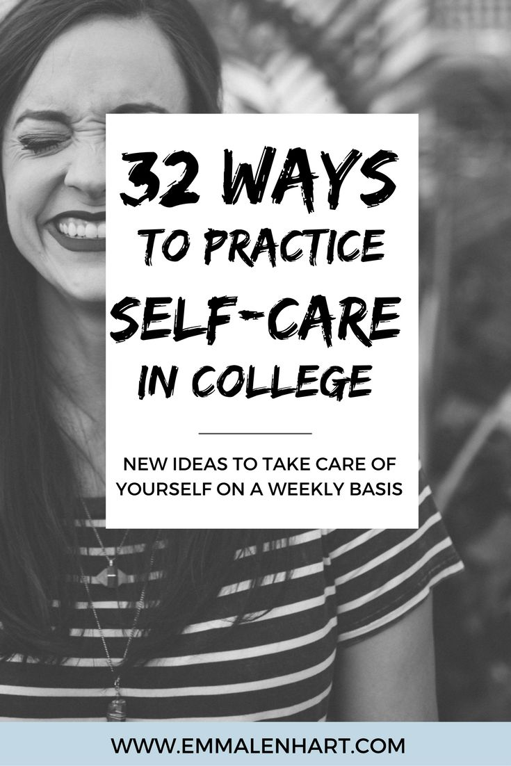 Fantastic list of 32 self-care ideas and activities to practice. Find something to calm yourself when you are feelings stressed or overwhelmed in college. Reduce stress or anxiety with these self-care activities!
