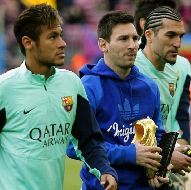 Neymar, Messi and Pinto FC Barcelona