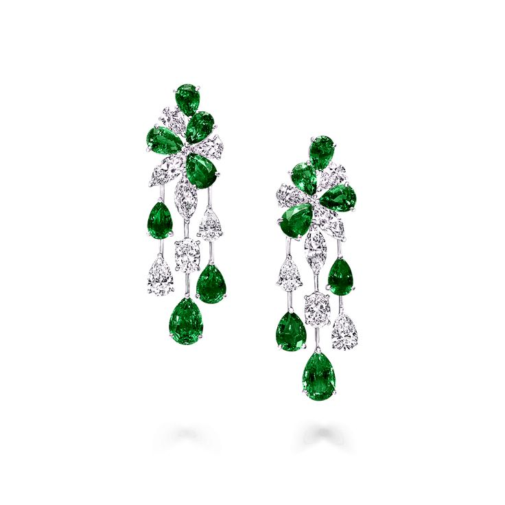 Emerald and Diamond Earrings #highjewelry Discover…