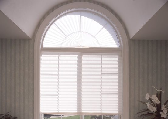 Peel And Stick Fabric Shade For Arched Window Comes Only