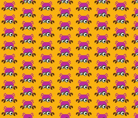 krabbe_rosa fabric by minneaa on Spoonflower - custom fabric