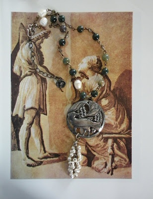 Raven Picking Grapes by Kim Rae Nugent, RAEvN's Nest.: Rae Nugent, Ravens Pick, Pick Grape, Kim Rae, Jewelry Creations, Raevn Nests, Nests Jewelry