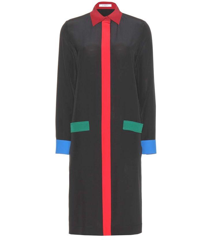 GIVENCHY Silk Shirt Dress. #givenchy #cloth #clothing