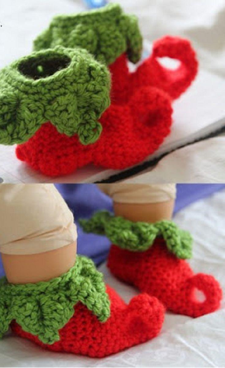 Fantástico Zapatillas Elf Patrón De Crochet Libre Ideas - Ideas de ...