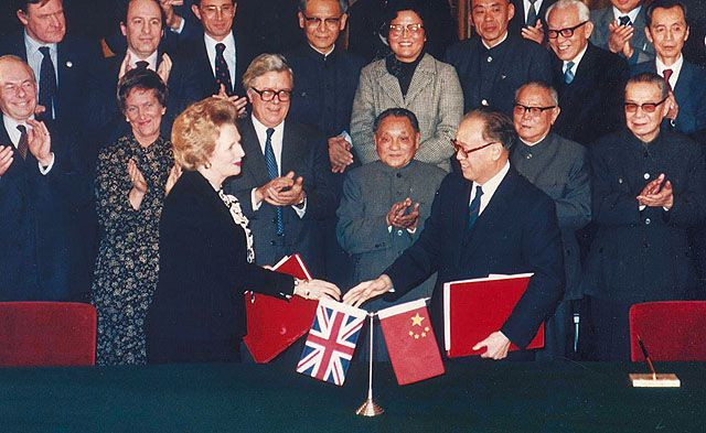 1984: Zhao Ziyang and Margaret Thatcher signs Sino-British Joint Declaration [PS]