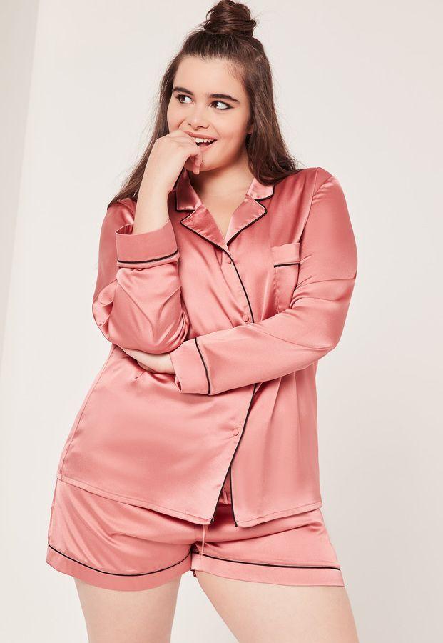 Plus Size Pink Piping Detail Pajama Set  Plus Size Pink Piping Detail Pajama Set Plus Size Pink Piping Detail Pajama Set  affiliate link