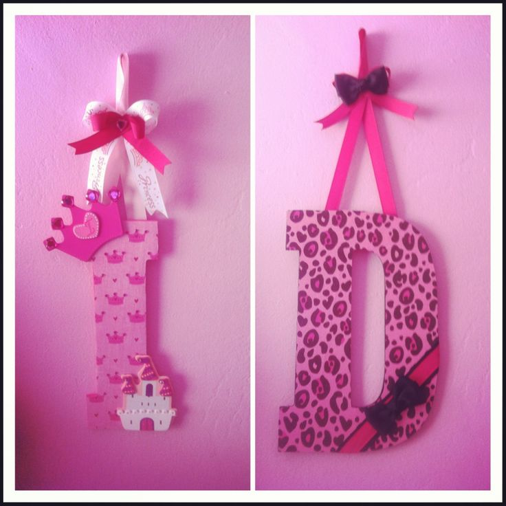Princess and cheetah nursery letters.