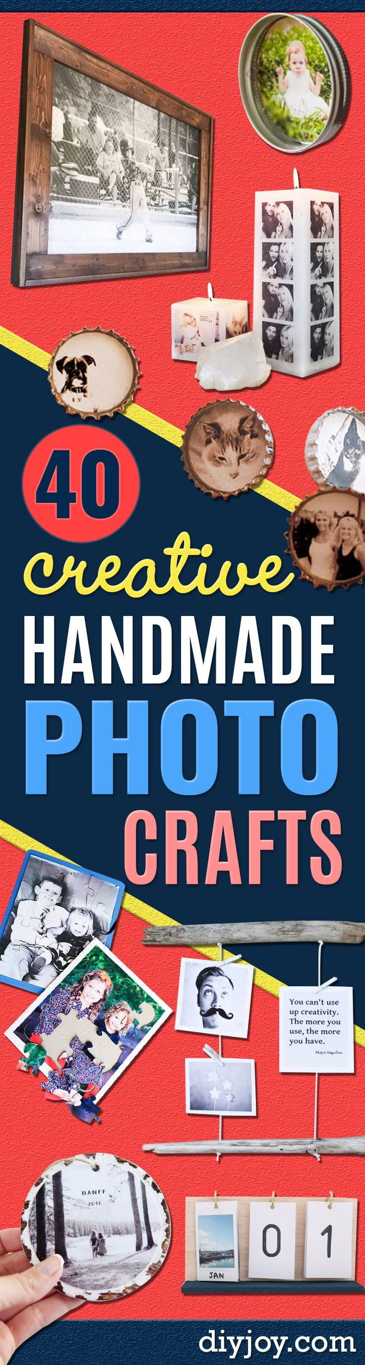 DIY Photo Crafts and Projects for Pictures - Handmade Picture Frame Ideas and Step by Step Tutorials for Making Cool DIY Gifts and Home Decor - Cheap and Easy Photo Frames, Creative Ways to Frame and Mount Photos on Canvas and Display Them In Your House http://diyjoy.com/handmade-photo-crafts