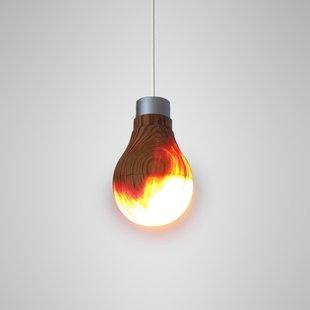 Wooden Light Bulb by Ryosuke Fukusada.
