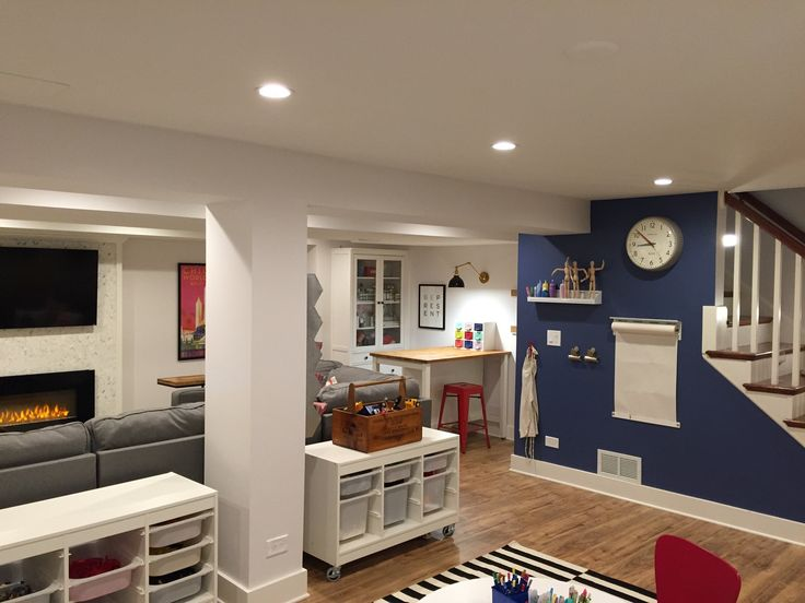 Before and after basement renovations awesome before for Basement design layouts