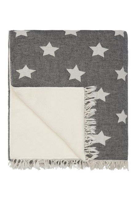 Irresistible star throws with snuggly fleece backing.