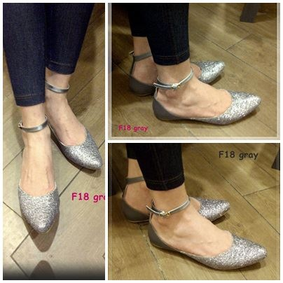 Flat Shoes -- sparkling silver only IDR 175.000