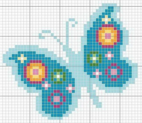Butterfly - Cool Perler Bead Patterns, http://hative.com/cool-perler-bead-patterns/,