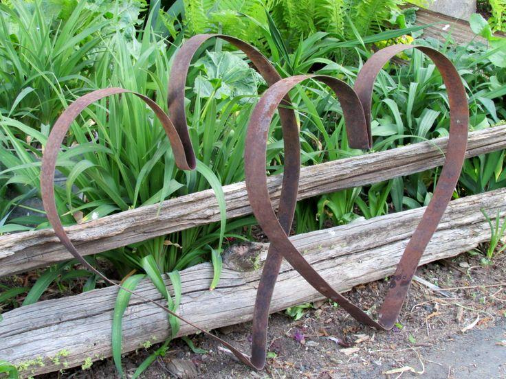 91 best barrel rings images on pinterest garden art for Blumenkubel rostigem metall