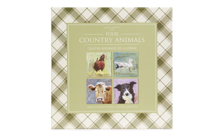 15 best my laura ashley kitchen images on pinterest laura ashley set of 4 animal 500 piece jigsaws gumiabroncs Images
