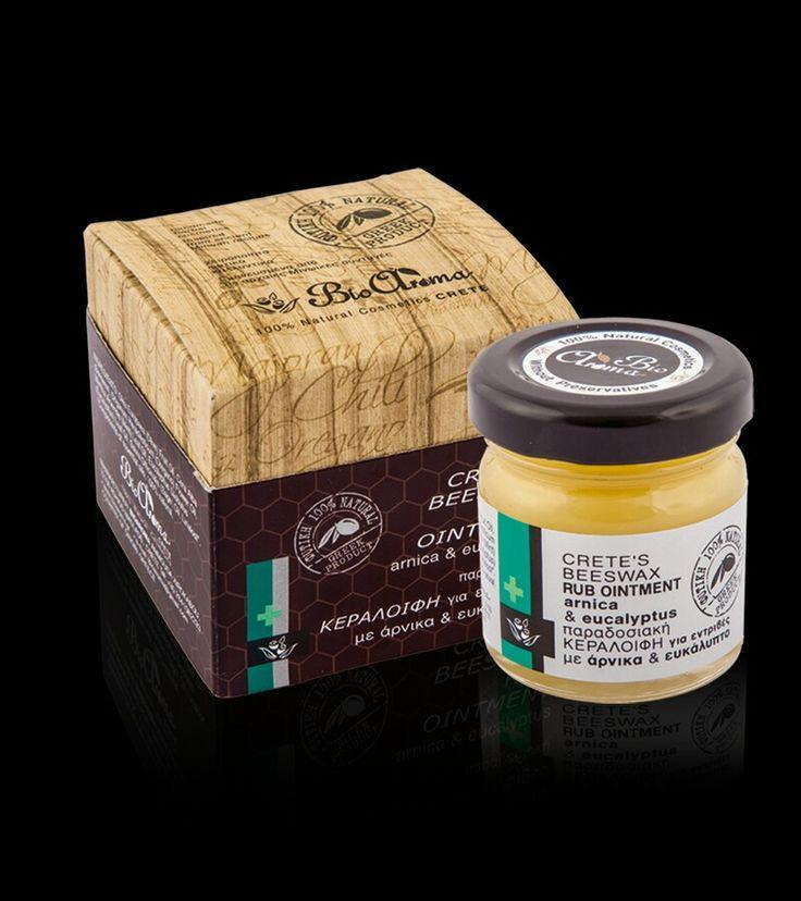 BioAroma Bijenwas zalf voor spierpijn en verkoudheid / 40ml Bevat: olijfolie en etherische oliën van tijm, eucalyptus en munt Bijenwas zalf voor spierpijnen, verkoudheid en griep. €9.50