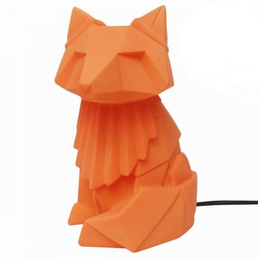 Disaster Designs Nordikka Origami Fox Lamp Orange Night Light