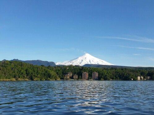 Lago + volcan Villarica