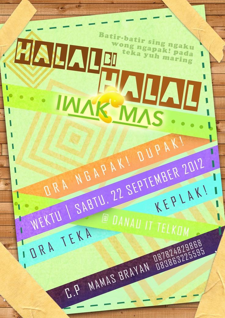 Iwakmas Halal Bi Halal 2012 Poster