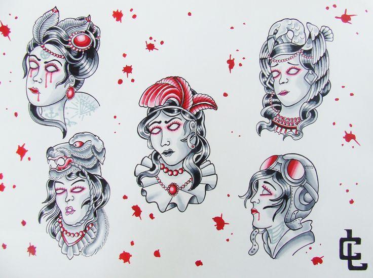 cursed gypsy flash-curtis lawson art