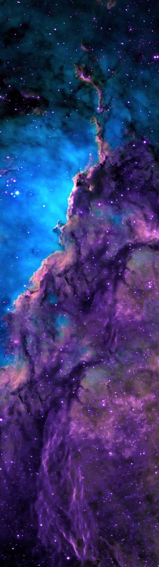 Possible section of the Rosette Nebula?... Nebula of Stars and Colorful Gas - Long, Tall, Vertical Pins