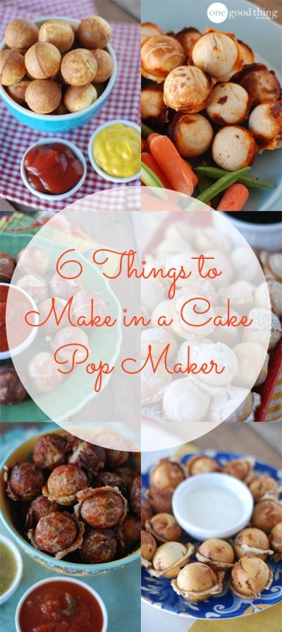 6 Things You Can Make In A Cake Pop Maker - Besides Cake! - One Good Thing by Jillee