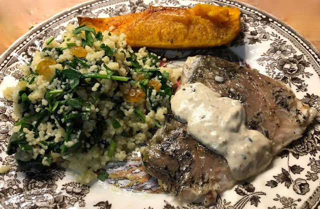 Barramundi and Herbed Couscous with Honeynut Squash and Spiced Labneh #blueapron