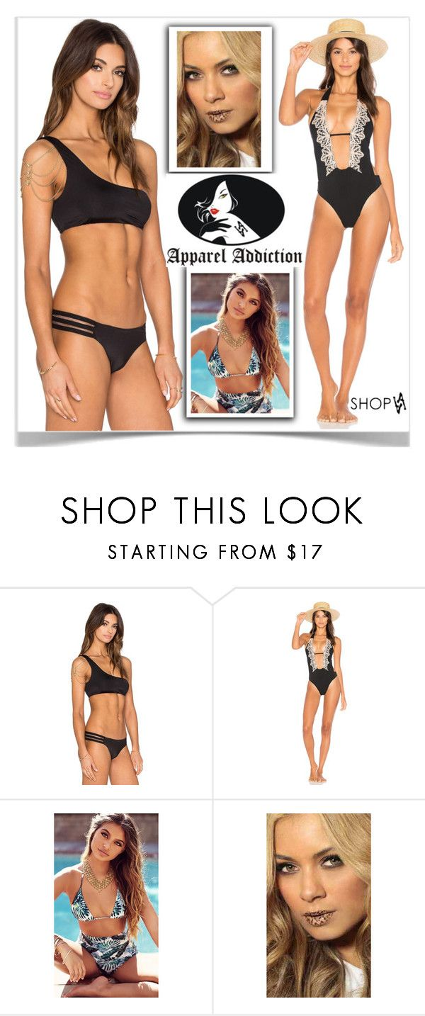 """""""ShopAA"""" by kiveric-damira ❤ liked on Polyvore featuring Beach Bunny and Violent Lips"""