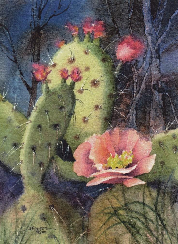 Cactus, southwestern art by Jerrilyn Emison print