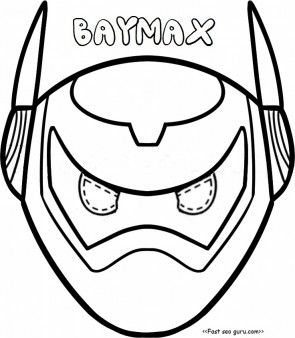 Printable Big Hero 6 Baymax Armor Mask Coloring Pages Cut Out For KidsFree Online Print Crafts