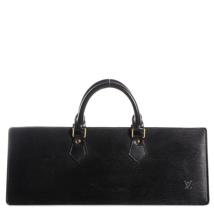 Louis Vuitton Sac Triangle Epi Noir #112254-