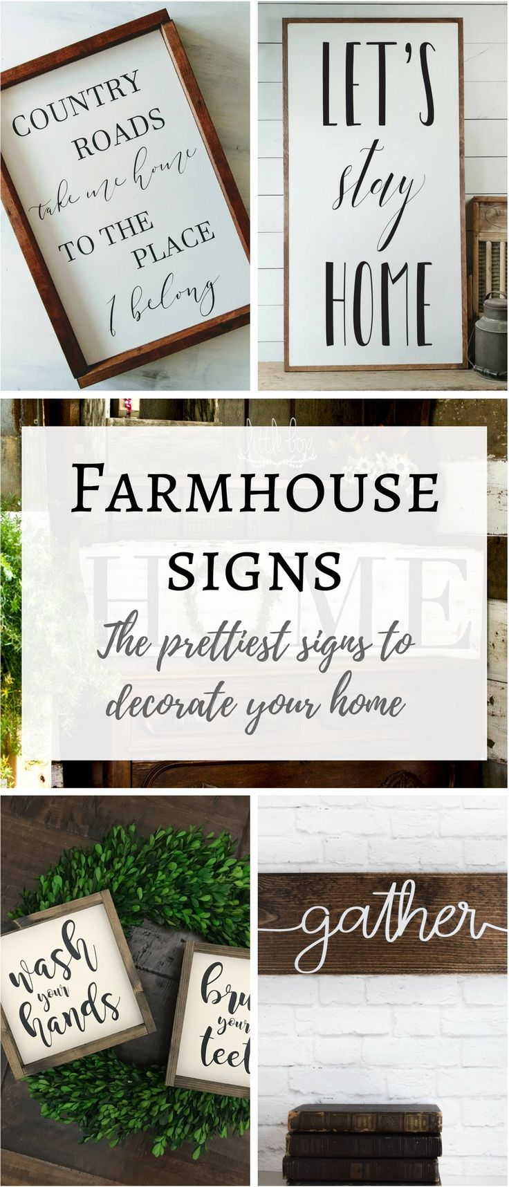 I have found the prettiest Farmhouse Style Signs and listed them here! Farmhouse Decor, Farmhouse Sign, White Wood Sign, Wedding Gift, Housewarming Gift, Wooden Sign #farmhousestyle #farmhousesign #farmhousechic #farmhousediy #woodensigns #housewarminggift #ad
