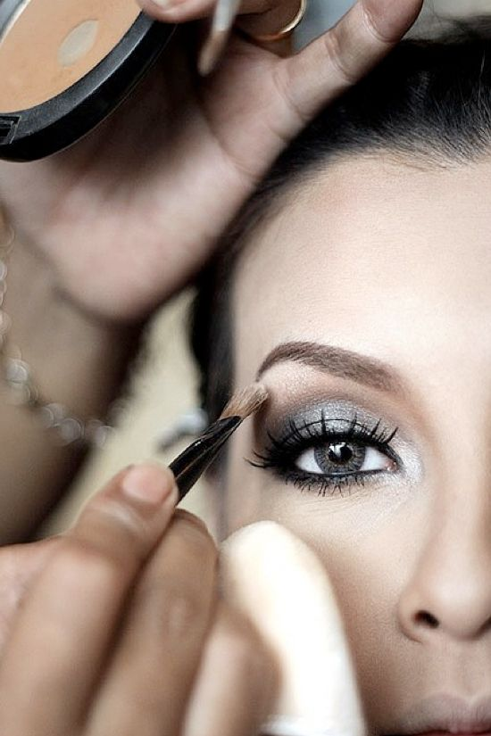 Wedding Makeup Looks — Wedding Ideas, Wedding Trends, and Wedding Galleries: Wedding Eye Makeup, Make Up, Wedding Hair, Smokey Eyes, Bridesmaid Makeup, Hair Makeup, Makeup Looks, Wedding Makeup